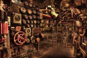 Utopie Maschinenraum